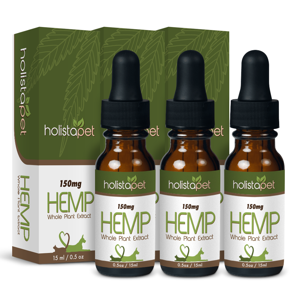 Bundle & Save: 3 Small Hemp Oil Pet Tinctures (3 X 150mg)