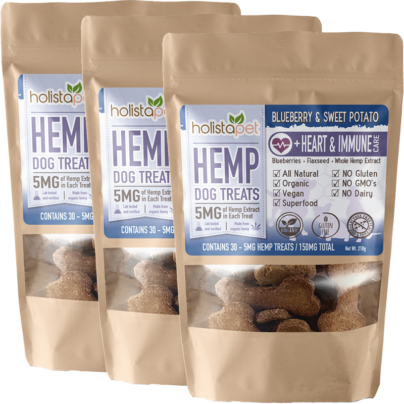 Bundle & Save: 3 Hemp Dog Treats +Heart & Immune Care
