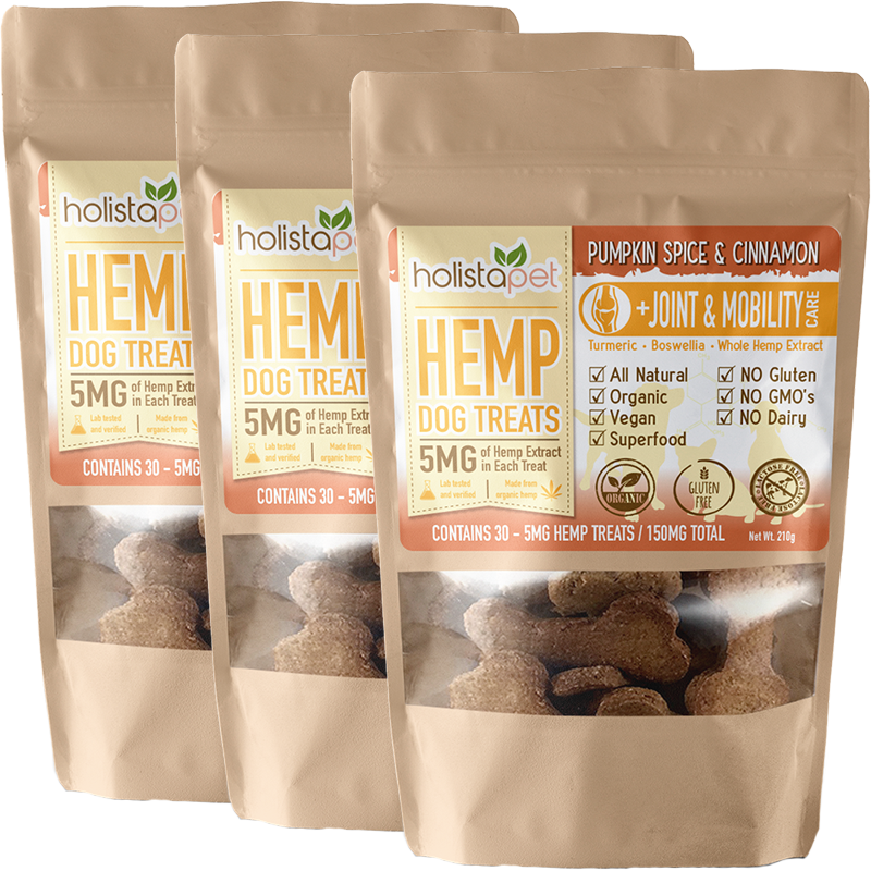 Bundle & Save: 3 Hemp Dog Treats +Joint & Mobility Care