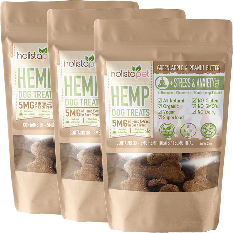 Bundle & Save: 3 Hemp Dog Treats + Calming Aid Recipe